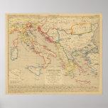 L'Empire Grec, l'Italie, 1300 un 1400 Poster