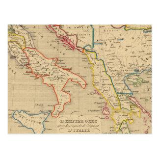L'Empire Grec, l'Italie, 1300 un 1400 Postal