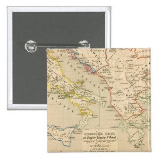 L'Empire Grec, l'Italie, 900 a 1002 2 Inch Square Button