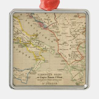 L'Empire Grec, l'Italie, 900 a 1002 Square Metal Christmas Ornament