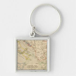 L'Empire Grec, l'Italie, 900 a 1002 Silver-Colored Square Keychain