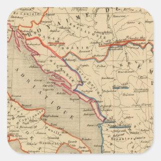 L'Empire Ottoman, l'Italie, 1400 a 1500 Square Sticker