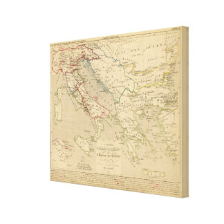 L'Empire Romain d'Orient, Royaume des Lombards Gallery Wrapped Canvas