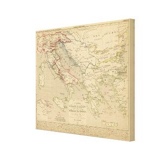 L'Empire Romain d'Orient, Royaume des Lombards Canvas Print