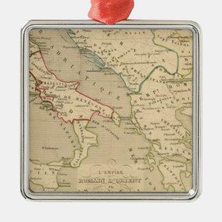 L'Empire Romain d'Orient, Royaume des Lombards Square Metal Christmas Ornament