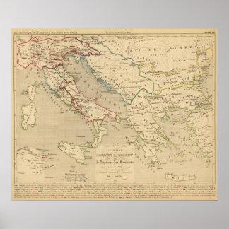 L'Empire Romain d'Orient, Royaume des Lombards Print