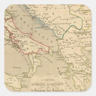 L'Empire Romain d'Orient, Royaume des Lombards Square Sticker