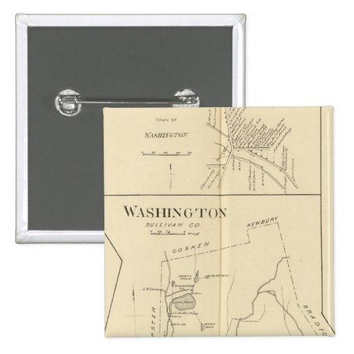 Lempster, Washington, Goshen 2 Inch Square Button