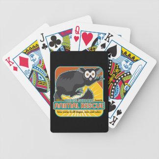 Lemur animal del rescate barajas de cartas