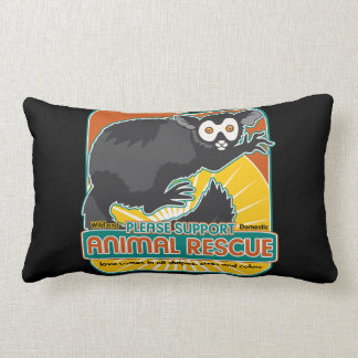 Lemur animal del rescate almohadas