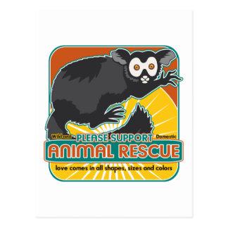 Lemur animal del rescate postal