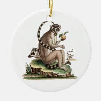 Lemur Artwork Ceramic Ornament