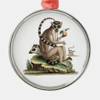 Lemur Artwork Metal Ornament