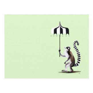 Lemur atado anillo tarjeta postal