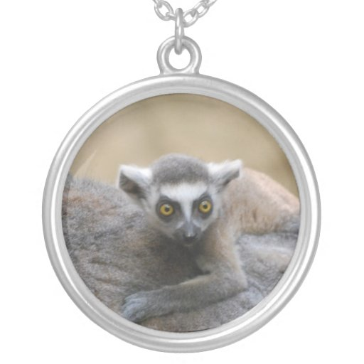 Lemur Baby Sterling Silver Necklace