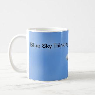 Lemur Blue Sky Thinking Motivational Mug