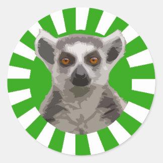 Lemur Classic Round Sticker
