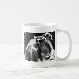 lemur de 2 ringtail taza de café