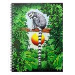 Lemur de Madagascar Libro De Apuntes Con Espiral
