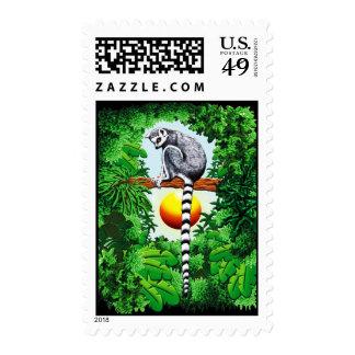 Lemur de Madagascar Sellos
