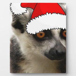 Lemur del navidad placas de madera
