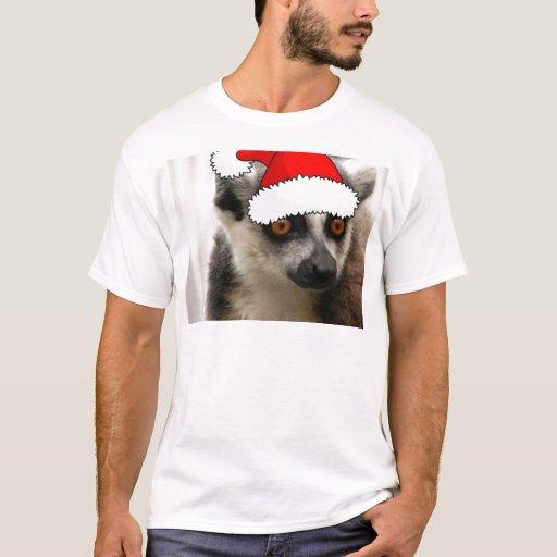 Lemur del navidad playera