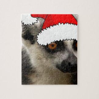 Lemur del navidad puzzles