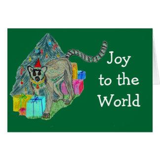 Lemur del navidad tarjeta de felicitación