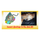 Lemur del navidad tarjeta fotografica
