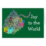 Lemur del navidad tarjetas