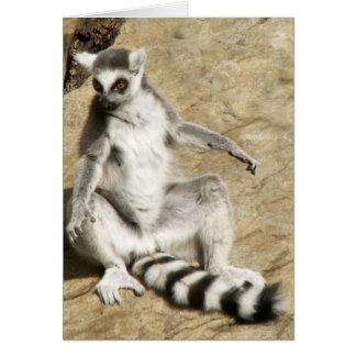 Lemur del Ringtail que se sienta Tarjeta De Felicitación