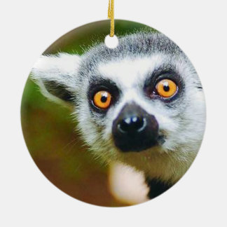 """""""Lemur"""" design gifts and products Ceramic Ornament"""
