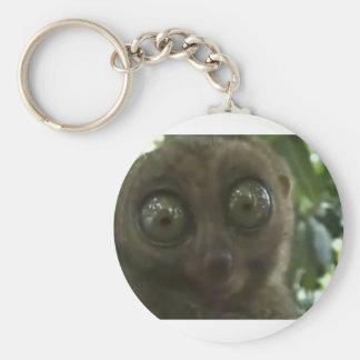 Lemur dramático llavero redondo tipo pin