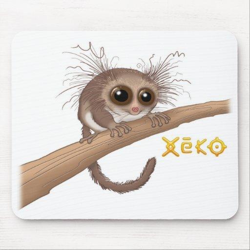 Lemur enano Melenudo-Espigado Mousepad de Xeko