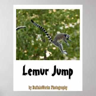 Lemur Jump Poster