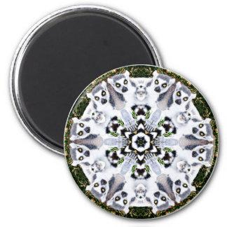 Lemur Kaleidoscope 2 Inch Round Magnet