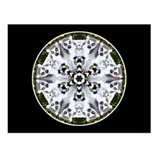 Lemur Kaleidoscope Post Card
