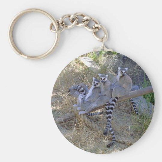 Lemur Line Keychain