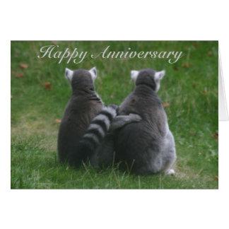 Lemur love,! .. Happy Anniversary Card