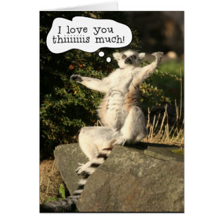 Lemur Love You This Much Fathers Day Card Template