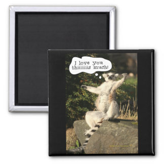 Lemur Love You This Much Funny  Fathers Day Refrigerator Magnet
