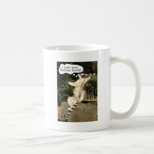 Lemur Love You This Much Funny  Fathers Day Coffee Mug
