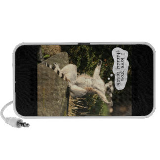 Lemur Love You This Much Funny  Fathers Day Laptop Speaker