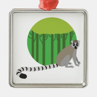 Lemur Metal Ornament