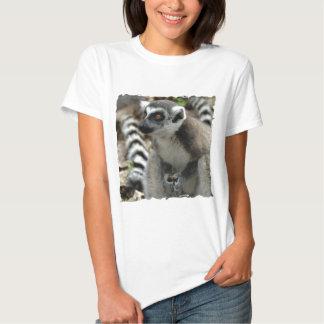 Lemur Monkey Ladies Fitted T-Shirt