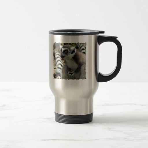 Lemur Monkey Stainless Travel Mug