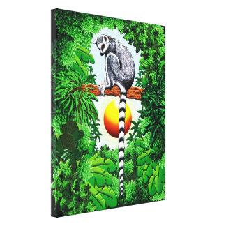 Lemur of Madagascar Gallery Wrapped Canvas