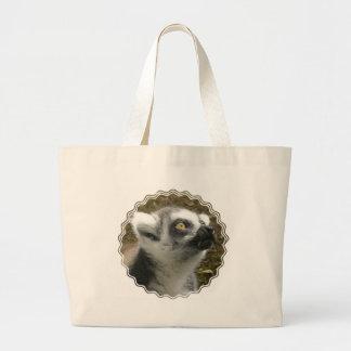 Lemur Photo Canvas Bag