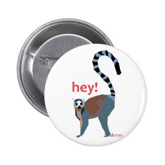 lemur pinback button