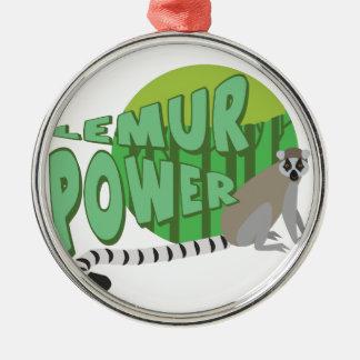 Lemur Power Metal Ornament